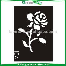 Tatuajes de tatuaje temporal plantilla rosa flor Tribal brillo de 11 * 8cm