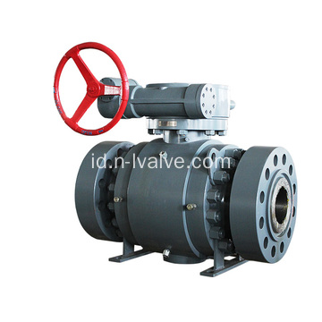 Gear Dioperasikan 3 PCS Casted Steel Ball Valve