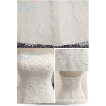 2017 Strapless Beading Pearls Sequined Lace Wedding Dress Girl