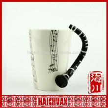 wholesale music ceramic mugceramic water cup