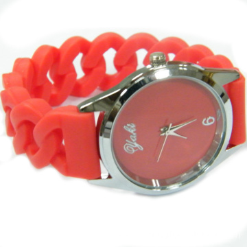 Silicone Vogue Lady Bracelet Watches Lady