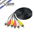 SIPU alta calidad 3RCA a 3RCA 5 pin av cable micro usb