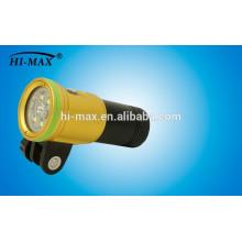 Hi-max patent tauchen fackel xml u2 2400 lumen 140 breite strahl führte tauchen taschenlampe