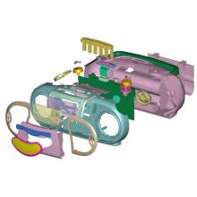 Habitação de fita / CD Player e componentes de plástico