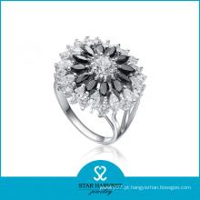 Moda traje 925 prata CZ jóias anel (SH-0055R)