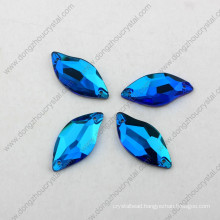 China Wholesale Flat Back Sew on Faceted Crystal Beads for Garment