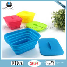 Promotional Silicone Food Storage Folding Silicone Food Box Sfb12