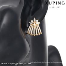 92451 Xuping nuevo estilo de cristal 18k pendiente de joyería para niñas