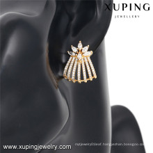 92451 Xuping new style crystal 18k earring jewelry for girls