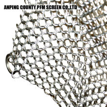 Skillet Chainmail Scrubber In 316 Stainless Steel 304 Iron Cast Chainmail Scrubber