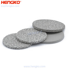 0.2-120 Microns stainless steel 304 316 316L SS sintered powder  disc filter