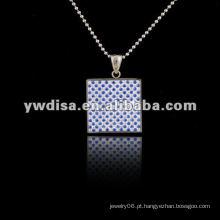 Estilo ocidental venda quente pingente colar quadrado, colar bonita e cores diferentes para o seu escolher