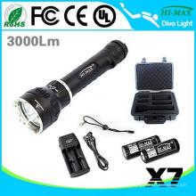 Primäre Tauch-Taschenlampe 26650 3000lumen führte U2