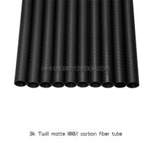 21,5x19,5X1000mm tubes mat twill 100% en fibre de carbone