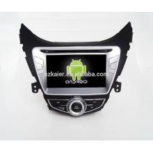 Quad core! DVD de coche con enlace de espejo / DVR / TPMS / OBD2 para pantalla táctil de 8 pulgadas con cuatro núcleos 4.4 Sistema Android HYUNDAI ELANTRA