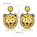 Création dessin animé mignon petit tigre boucles d'oreilles