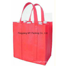 Easy Carrying Wine Bottle Nonwoven Bags
