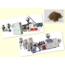 Máquina de granulación del wpc del polvo de madera de PP / PE +
