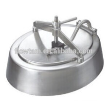 Санитарная крышка резервуара / покрытие из нержавеющей стали без сателлита (эллиптическая форма)