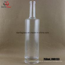 750ml garrafa de vidro Super Flint com ombro plano e base grossa