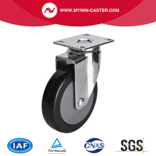 Chrome 4 pouces 70Kg Plate Swivel PU Caster