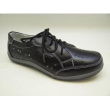 Sapatos de couro de lazer das mulheres de Lates sapatos de couro casuais (SF001)