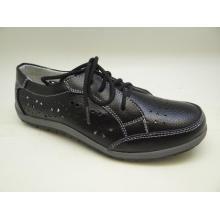 Lates женщин досуг кожаные ботинки Повседневная кожа обувь (SF001)