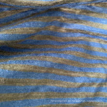Jersey de punto teñido en hilo de lino