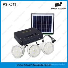Kit de estudio meteorológico portátil con tres luces LED para áreas fuera de la rejilla