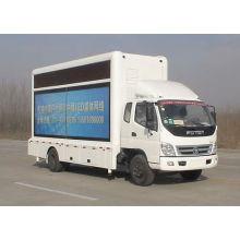 Foton llevó publicidad camión (pantalla led de 10,8 m2)