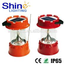 Solar LED Linterna con cargador de CA De Camping Equipment proveedor de China con la garantía del comercio