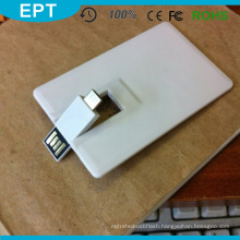 Plastic OTG Business Credit Card Shape USB Flash Drive (TD216)