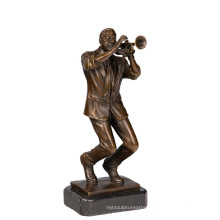 Music Decor Brass Statue Trumpet Player Bronze Sculpture Tpy-751