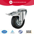 Abgebremster Bolt Hole Swivel Medium Duty Rubber Caster