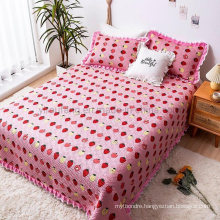 Hotel Fashions Deep Pink Cover Bedspread Full Size Printed for All Season
