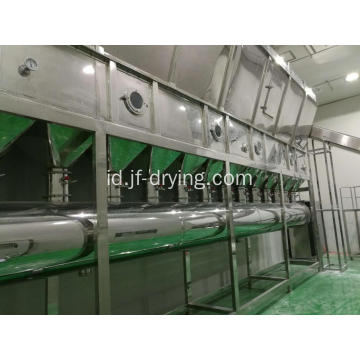 Horizontal melanjutkan mesin Fluid Bed Dryer
