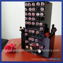 Hochwertiger schwarzer drehbarer Acryl Lippenstift Stand