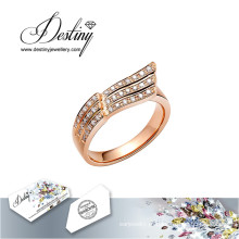 Destino joias cristal de Swarovski anel anel a voar