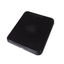 Schwarze Farbe Mini-Metall-Box mit Scharnier