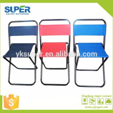 600D oxford fabric small foldable hiking travel camp chairs with backrest