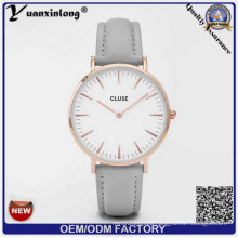 Yxl-751 Cow Leather Slim Style Lady Wrist Watch Popular Brand Lady Watch