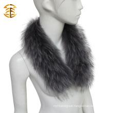 Ladies Genuine Raccoon Denim Jacket Fur Collar for Women