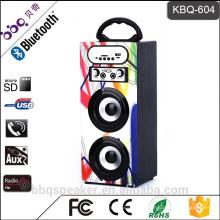 Système de karaoké 1200mAh meilleur boîte en bois de haut-parleur de Bluetooth avec la radio FM USB