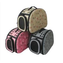 Breathable outgoing foldable portable messenger portable printed pet bag