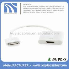 Док-разъем для HDMI-адаптера для iPhone 4 4s iPad iPad2 iPad3