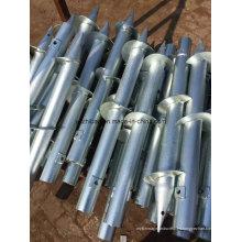 Pilas de tornillo helicoidal de acero galvanizado