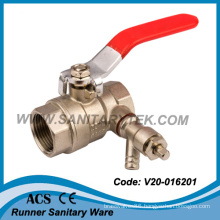 Brass Ball Valve with Drain Cock (V20-016201)
