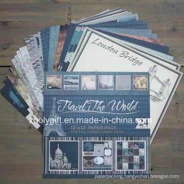 """Travel Design Printing DIY 12 X 12 """" Scrapbook Paper Pack"""