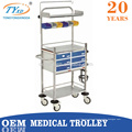 hospital equipment medicine trolley carts on wheels