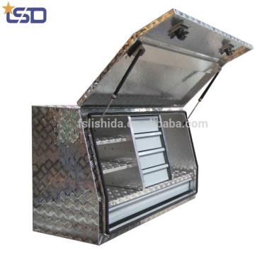 Caixas de ferramentas de alumínio impermeáveis do caminhão da placa do verificador / recolhimento